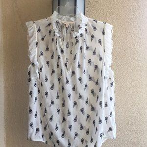 Rebecca Taylor silk ruffle blouse